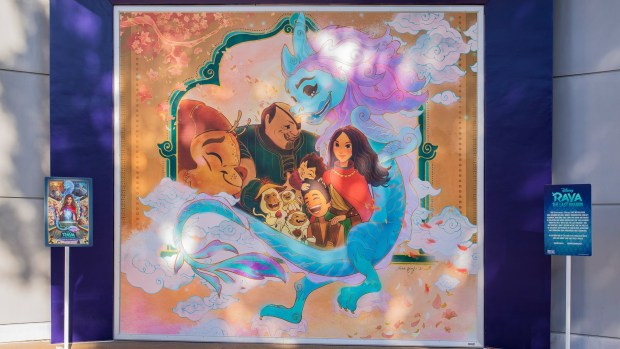 'Raya and the Last Dragon' mural celebrates differences at Downtown Disney
