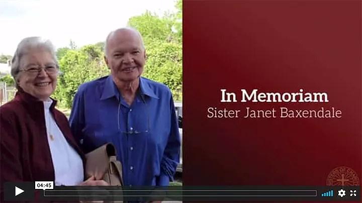 In Memoriam- Sr. Janet Baxendale