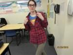 Student dressed as Clark Kent aka Superman