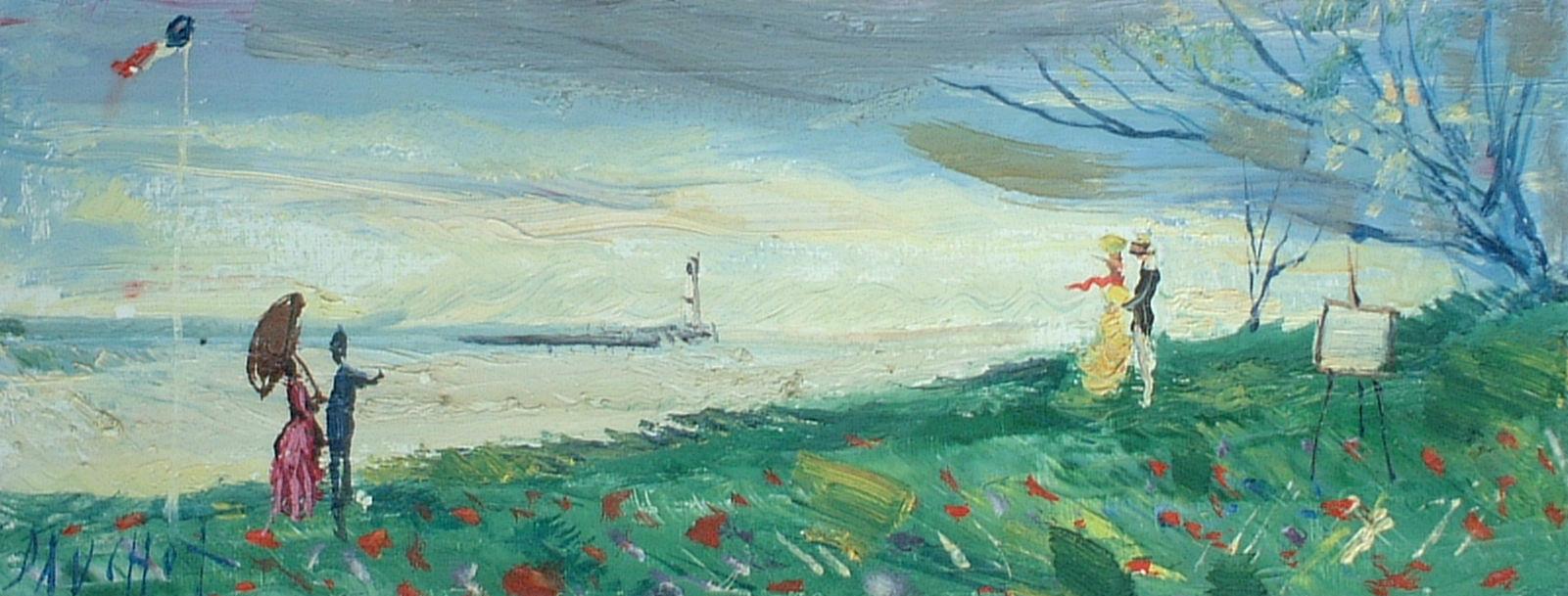 Artist: Gabriel Dauchot Title: Spring at Shore Size: 7.5in x 18.5in
