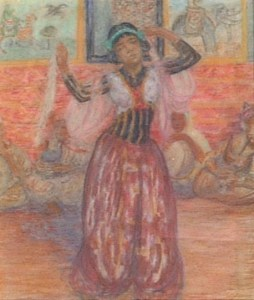 Artist: Leon Detroy Title: Entertaining the Pasha Size: 18in x 16in Framed: Yes