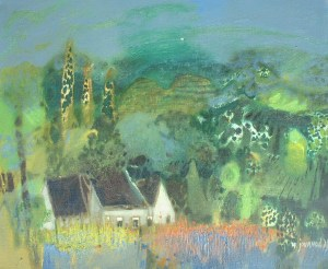 Artist: M. Journod Title: Home in Provence Size: 15in x 18in Framed: No