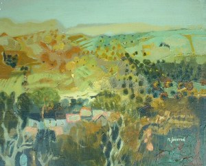 Artist: M. Journod Title: Landscape of Cavaillon Size: 13in x 16in Framed: No