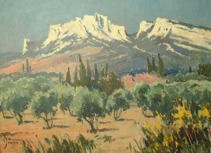 Artist: Maurice Martin Title: The Olive Grove Size: 21in x 28in