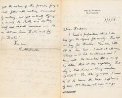 Letter from E. M. Forster to Barbara Collingwood, 9 September 1916.