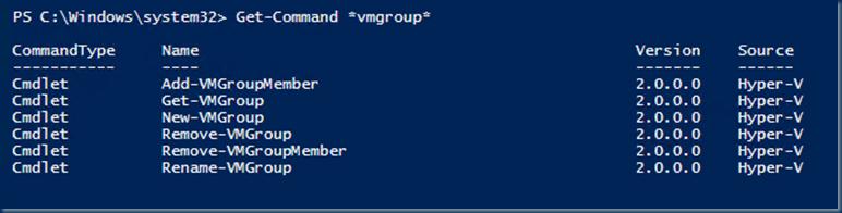New-VMGroup