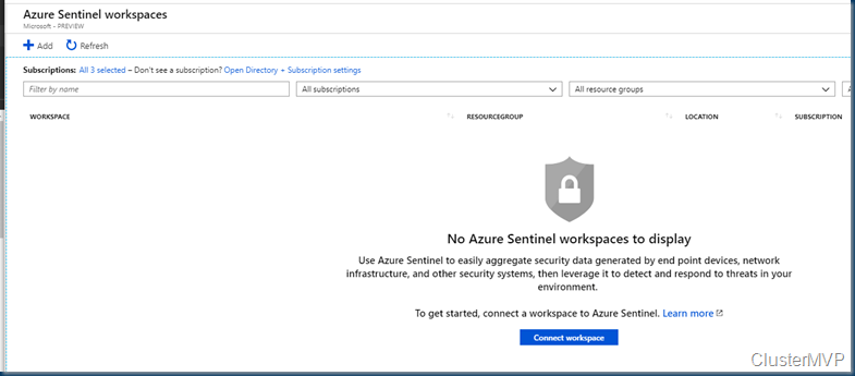 Azure Sentinel cloud-native Azure Notebooks