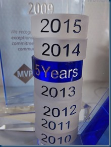 Microsoft Most Valued Professional Award – Robert Smit renewal for 2015