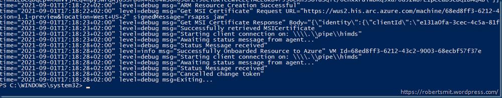 Azure Arc-enabled server