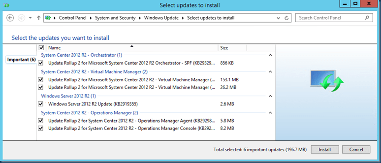 Update Rollup 2 for System Center 2012 R2 Virtual Machine