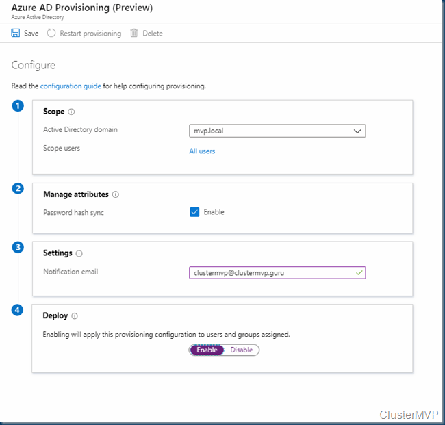 Azure Active Directory (Azure AD) Connect Cloud Provisioning