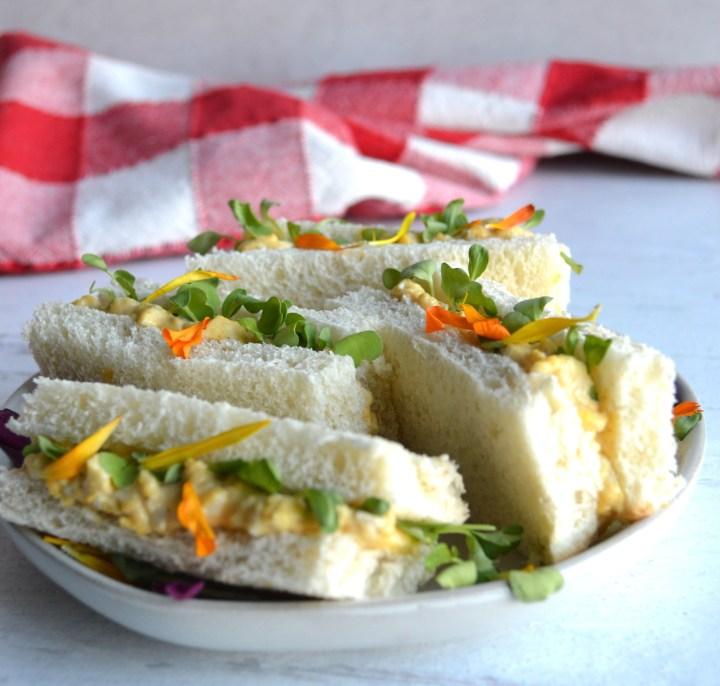loaded egg salad sandwich