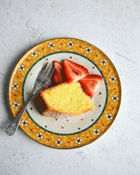 Orange Pound Cake with fresh berries