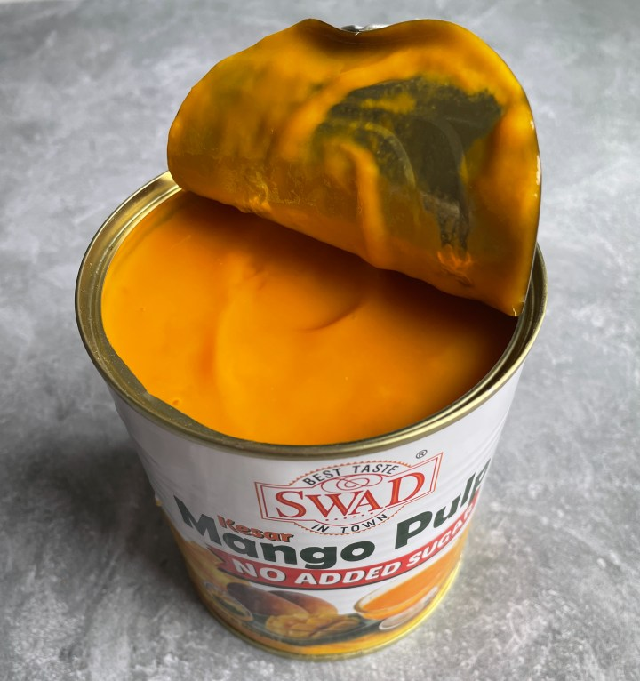 mango pulp for mango milkshake