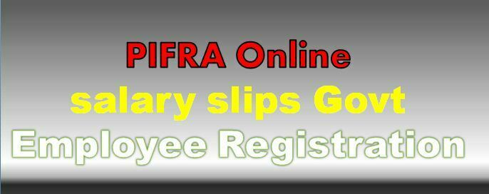 Monthly Pay Slips Online For Punjab Govt.