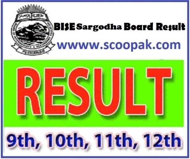 BISE Sargodha Board (10th Class) Matric / SSC Part-2 Result 2020 announced