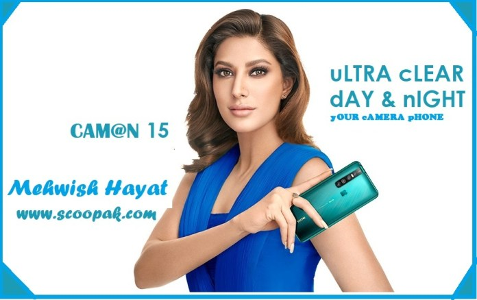 Mehwish Hayat Tecno Camon 15 Price