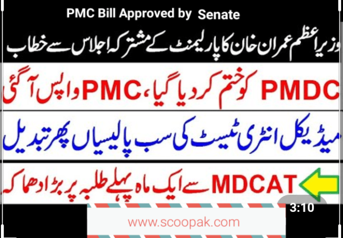PMC Bill Approved by PTI