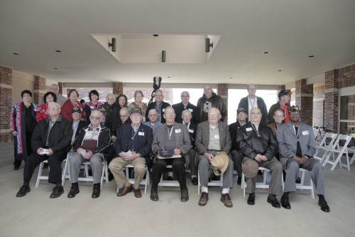Eighteen former crew members from the fleet ocean tug Quapaw attended a ceremony earlier this month where an anchor from the scrapped ship was presented to the Quapaw Tribal Museum in Oklahoma. Photo by Luke Anderson)