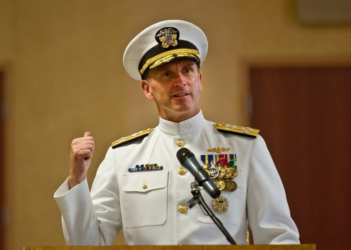 Chief of Naval Operations Adm. Jon Greenert hits the road tomorrow when he hands the reins over to former Naval Reactors head Adm. John Richardson. (Credit: Navy)