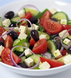 Greek salad. Yum.