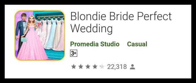 Blondie Bride Perfect Wedding