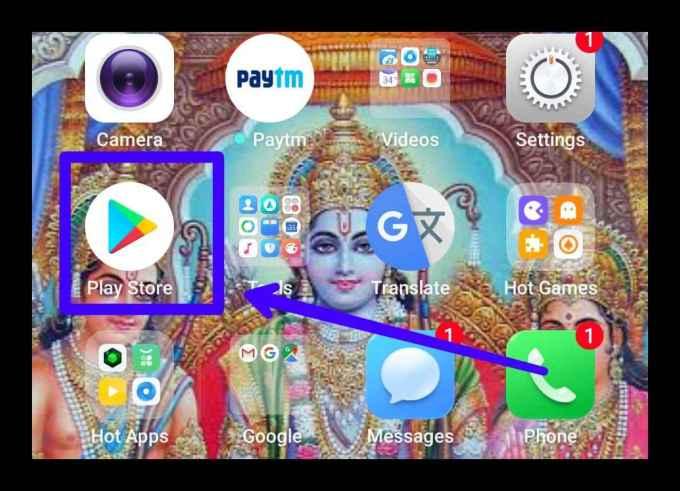 Open Google Play Store Application