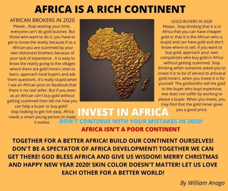 AFRICA IS NOT A POOR CONTINENT