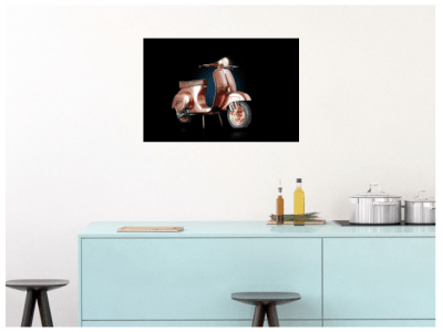 Vespa Copper Hung Print
