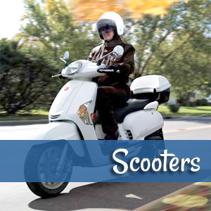 Scooters at Scooter City Sacramento