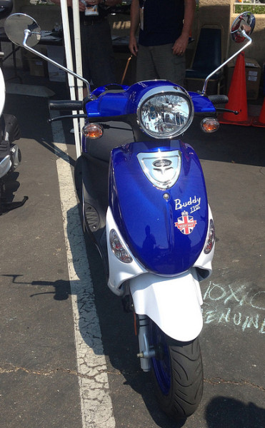 The early British-themed Buddy International displayed at Amerivespa 2013.