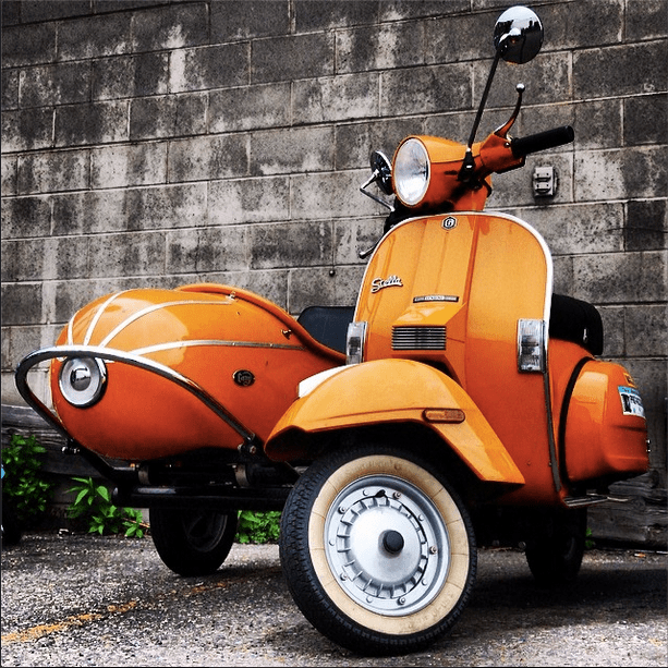 Stella w/Sidecar on Instagram shared by ScooterFile