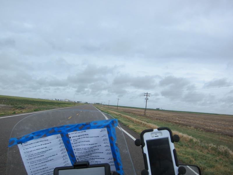 Leaned against the wind in Kansas