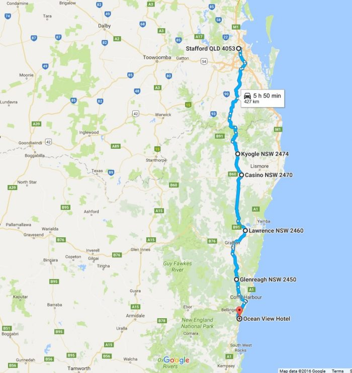 Ride to Urunga