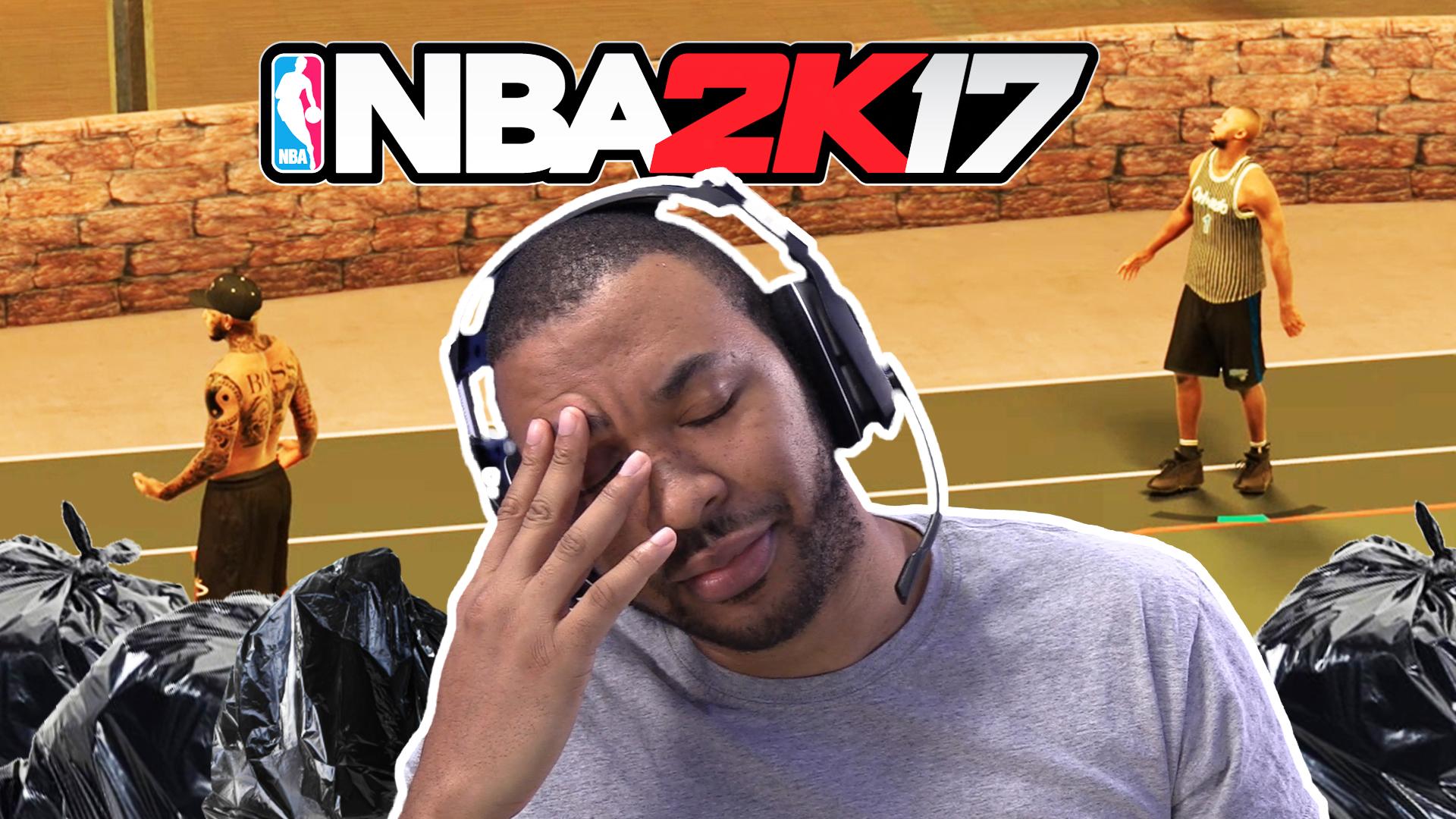 THIS GUY IS TRASH!!! [NBA2K17 MYPARK #3] Thumbnail