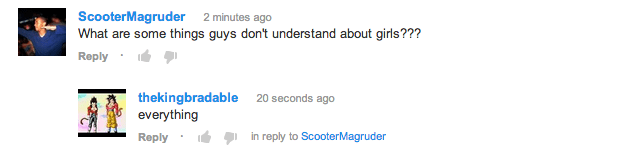 Things Girls Don't Understand About Guys YouTube Comment