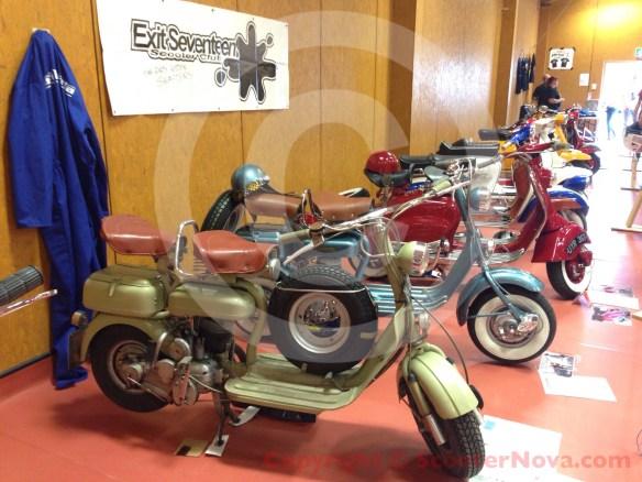 Lambretta Model C and D in the IOW scooter custom show.