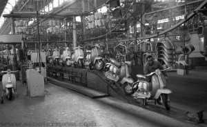 Innocenti factory, Milan, Italy.