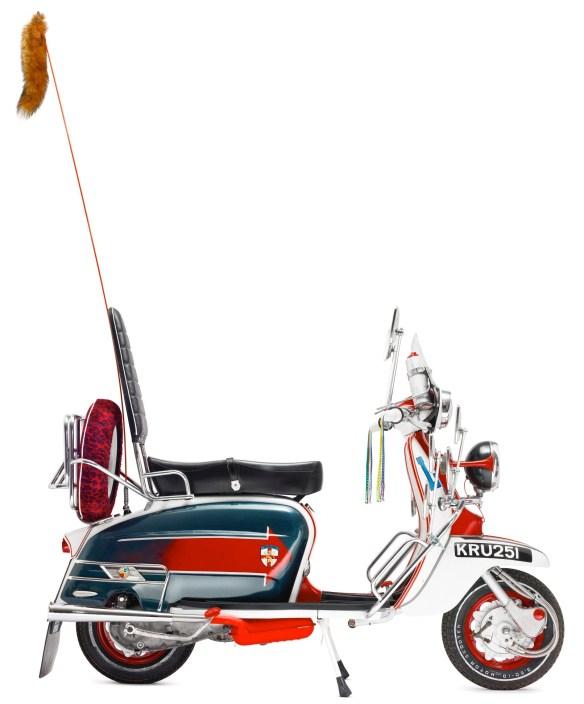 A recently built replica of Jimmy's Lambretta from the film Quadrophenia.