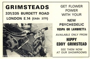 Eddy Grimstead advert, 1967.