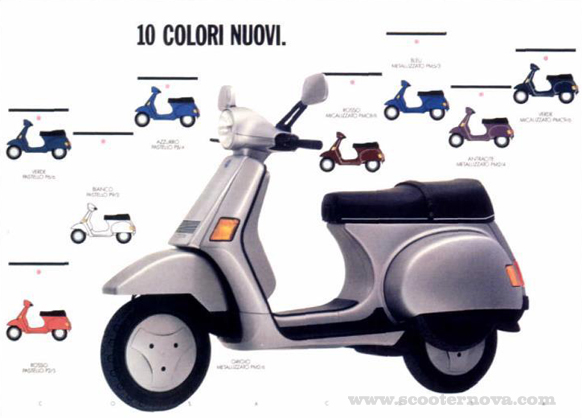 Italian Cosa brochure showing colour choices.