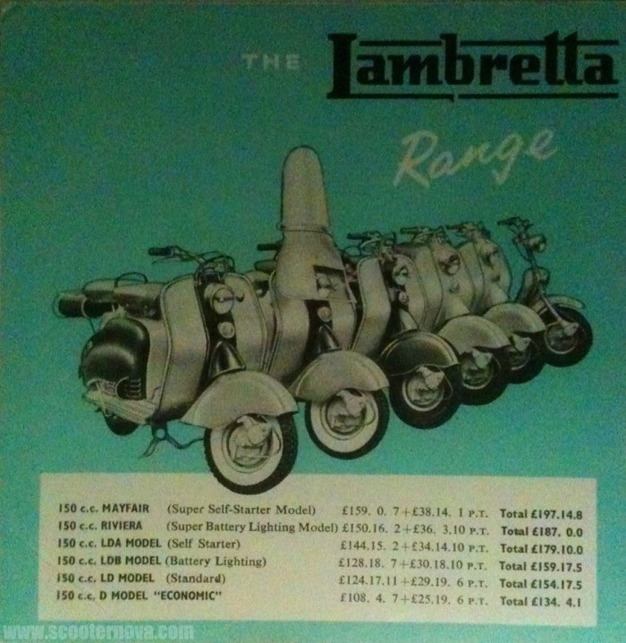 British Lambretta leaflet, 1957.