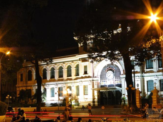 Saigon central post office at 1:30 am.
