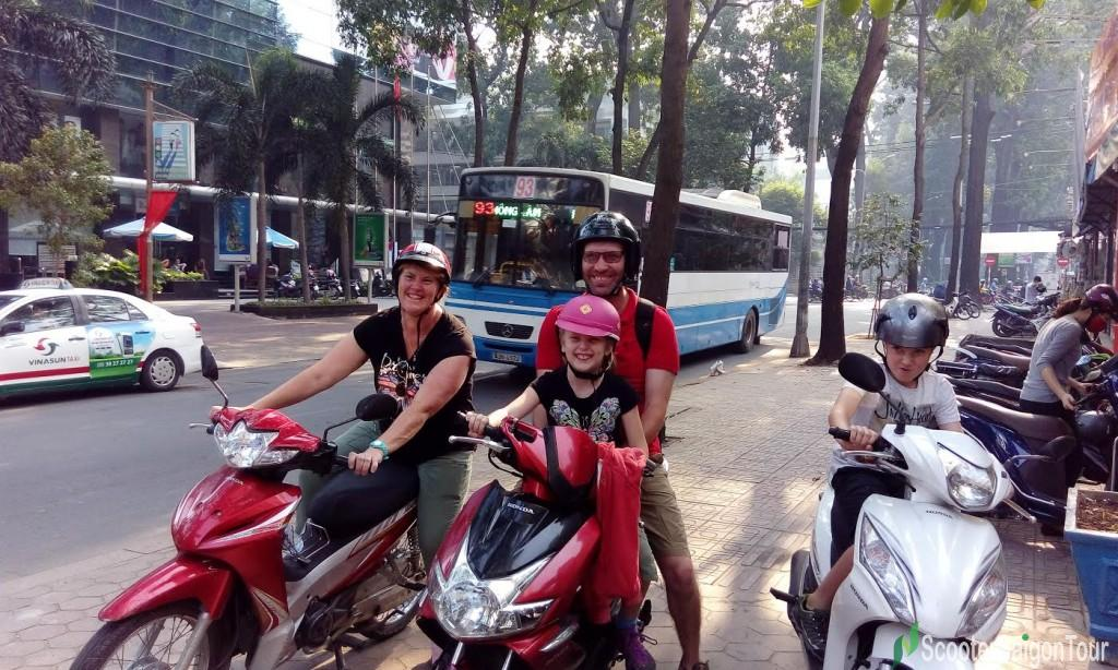 saigon sightseeing tour by motorbike tour on the way
