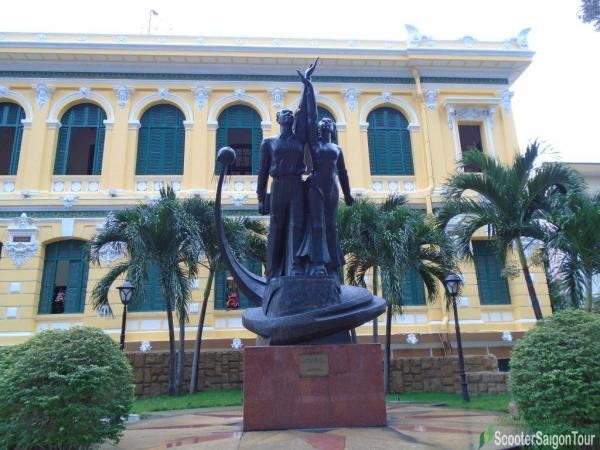 Statue In Front Of Saigon Central Post Office Tracy