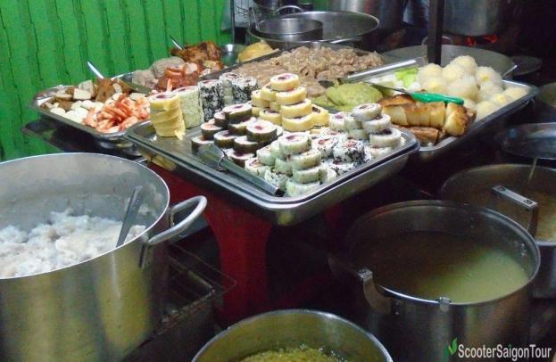 Street Food Stall In Saigon