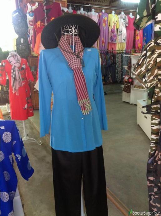 Vietnamese Silk Pajama Ao Ba Ba 2