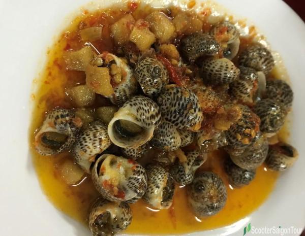 Oc Bong Xao Sa Te Or Stir Fried Bong Snail With Saute