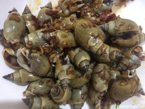 Oc Ca Na Xao Toi Or Stir Fried Ca Na Snail With Garlic And Chili