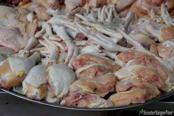Chicken Leg At Saigon Local Market